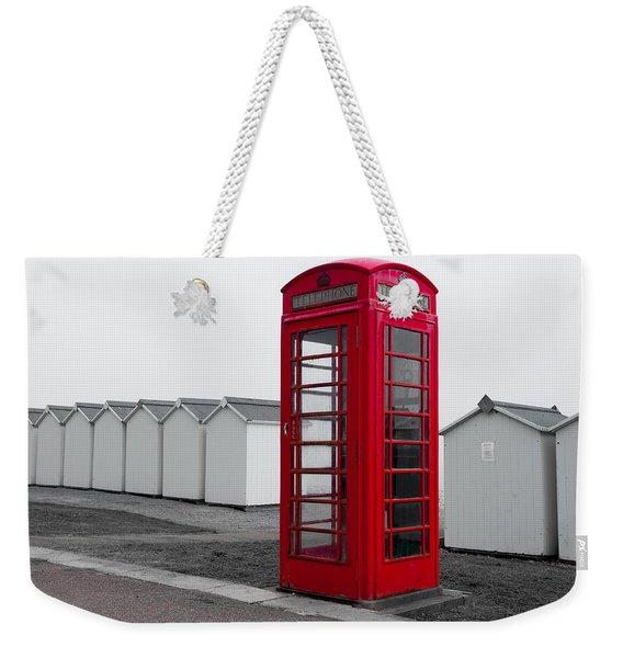 Telephone Box By The Sea I Weekender Tote Bag