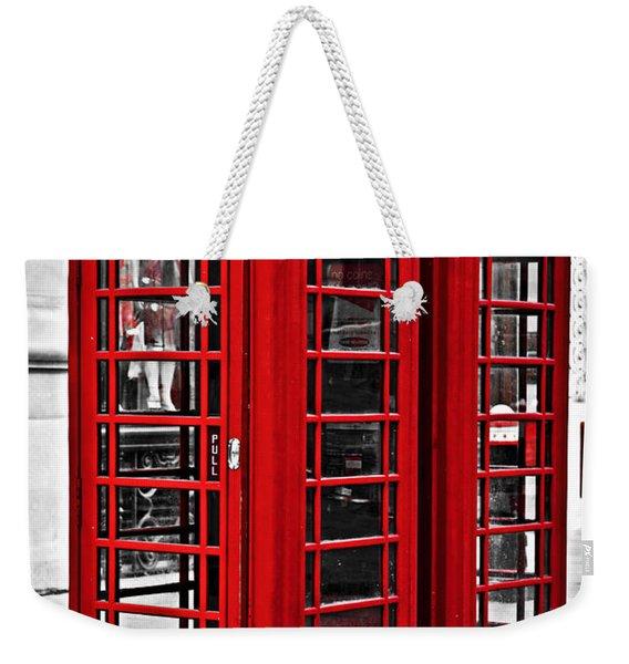 Telephone Boxes In London Weekender Tote Bag