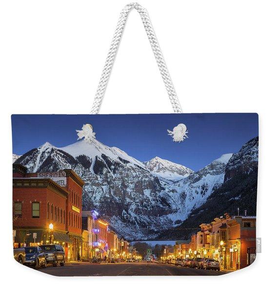 Telluride Main Street 3 Weekender Tote Bag
