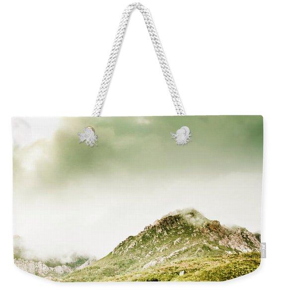 Temperate Alpine Terrain Weekender Tote Bag