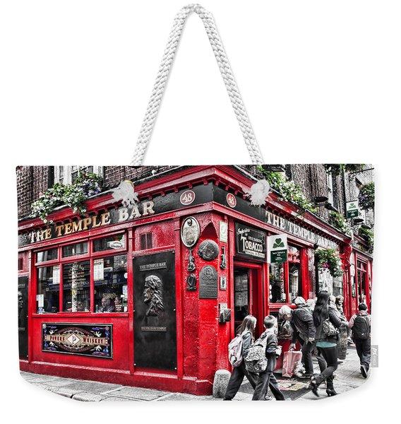 Temple Bar Pub Weekender Tote Bag