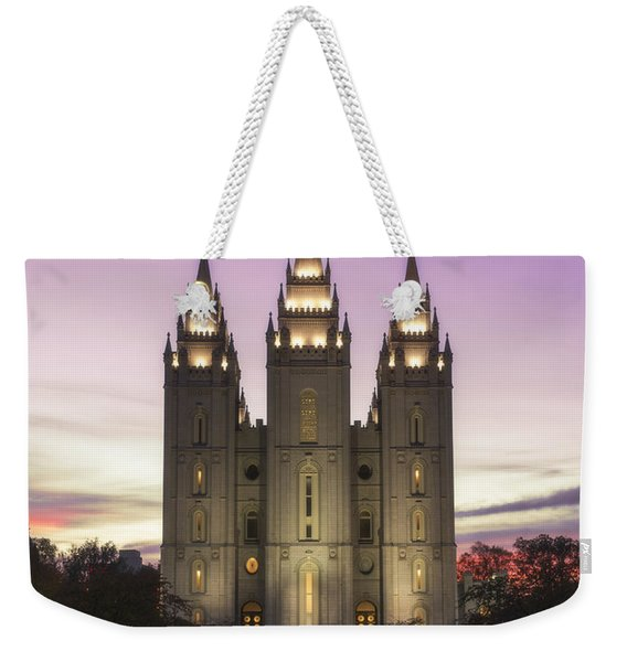 Temple Courtyard Weekender Tote Bag