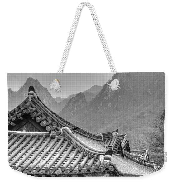 Temple In Sokcho  Weekender Tote Bag