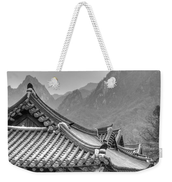 Temple In Sokcho  Weekender Tote Bag