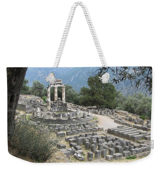 Temple Of Athena At Delphi Weekender Tote Bag