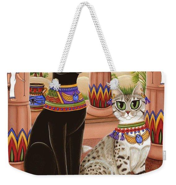 Temple Of Bastet - Bast Goddess Cat Weekender Tote Bag