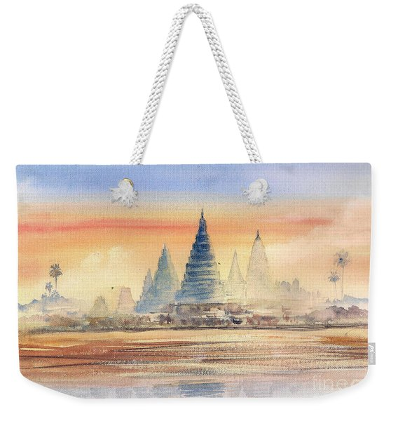 Temples In The Dusk Weekender Tote Bag