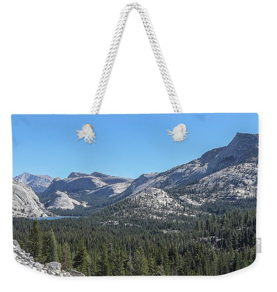 Tenaya Lake And Surrounding Mountains Yosemite National Park Weekender Tote Bag