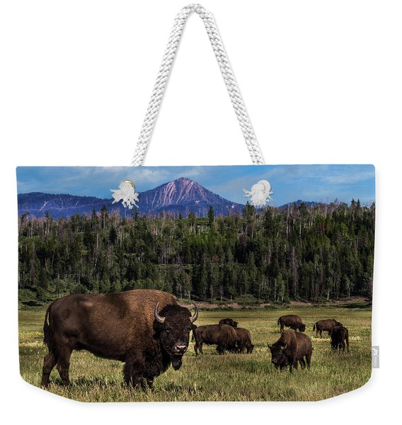 Tending The Herd Weekender Tote Bag