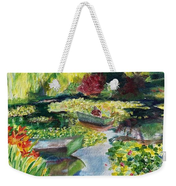 Tending The Pond Weekender Tote Bag
