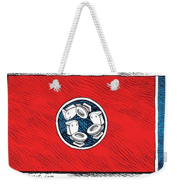Tennessee Bathroom Flag Weekender Tote Bag