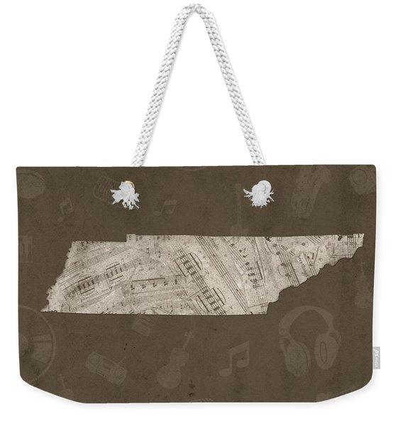 Tennessee Map Music Notes 3 Weekender Tote Bag