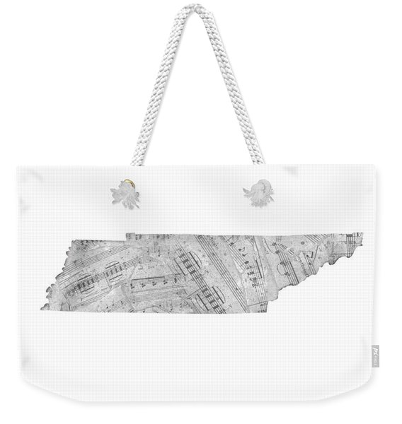 Tennessee Map Music Notes Weekender Tote Bag