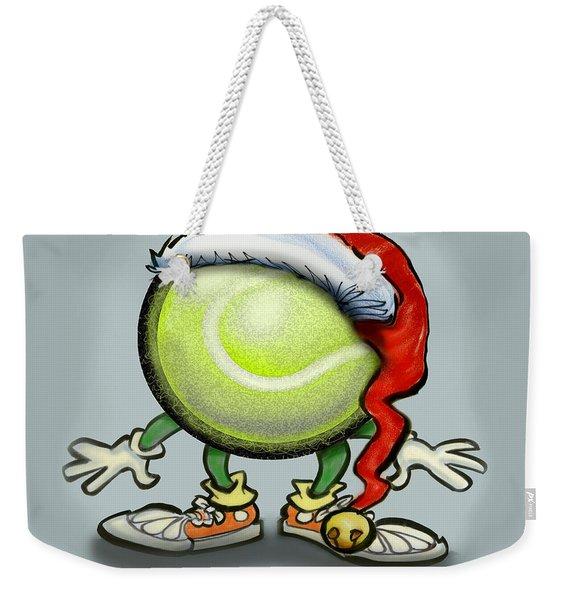 Tennis Christmas Weekender Tote Bag
