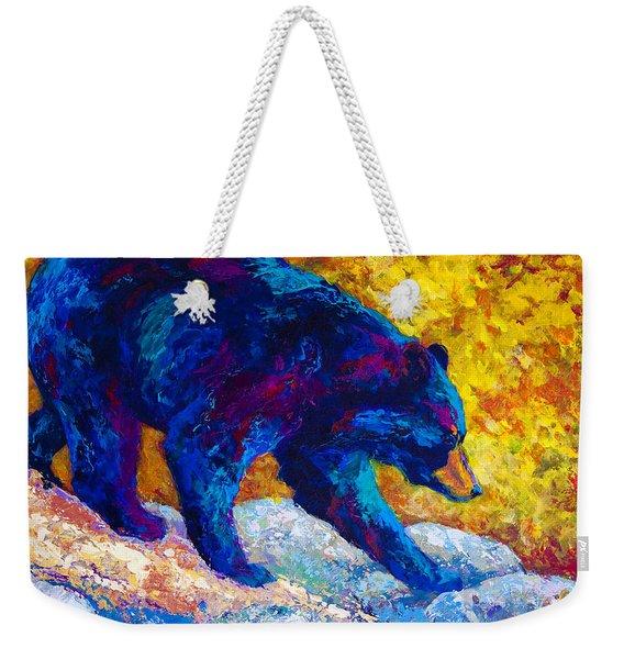 Tentative Step - Black Bear Weekender Tote Bag