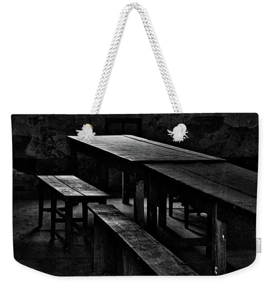 Terezin Tables, Benches And Window Weekender Tote Bag