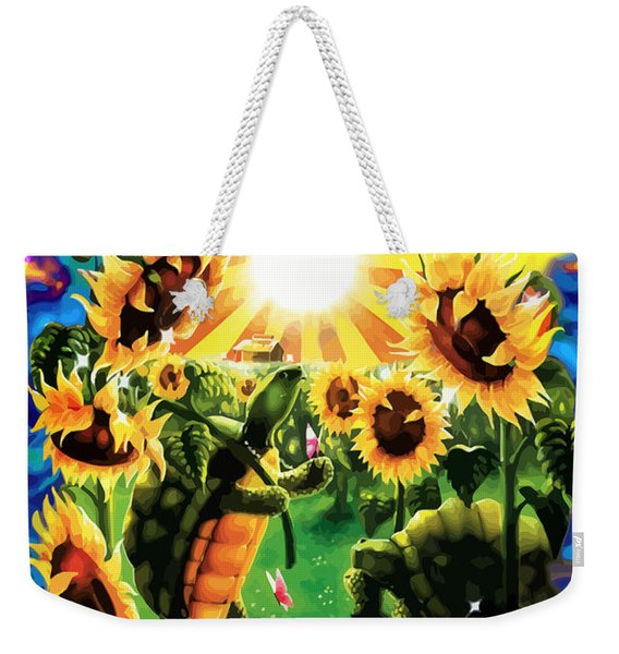 Terrapin Sun Flowers Weekender Tote Bag