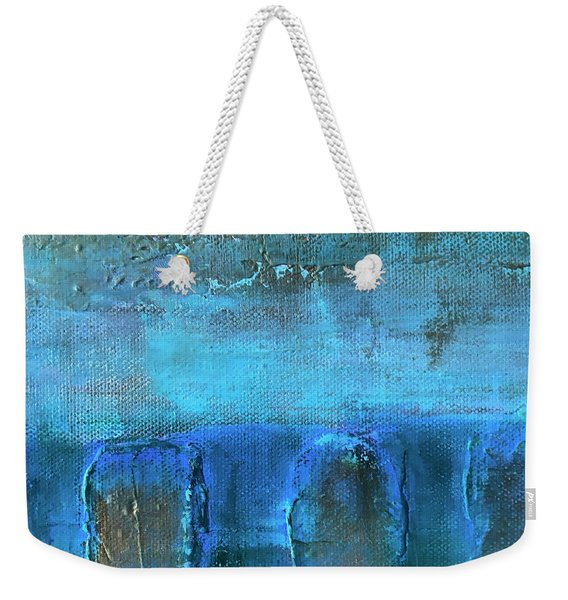 Weekender Tote Bag featuring the painting Tertiary by Kim Nelson