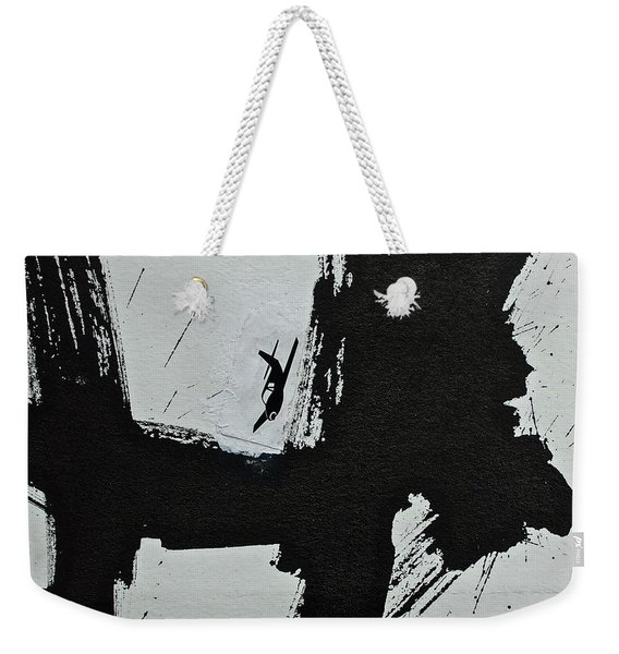 Weekender Tote Bag featuring the painting Test...homer's Iliad Aka Dogzilla  by Cliff Spohn