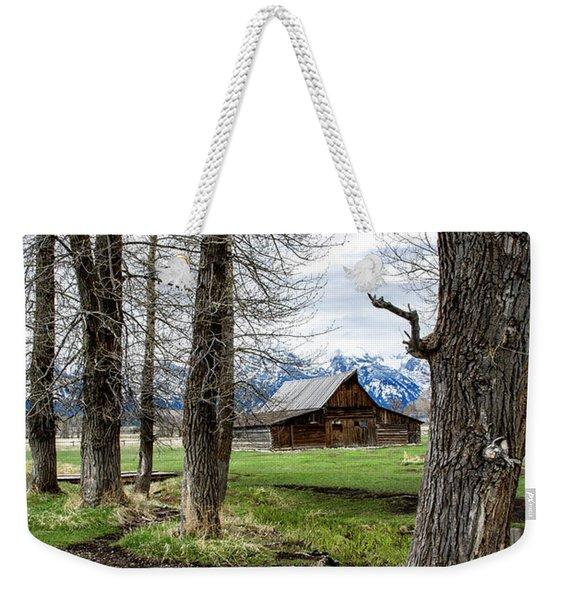 Moulton Barn On Mormon Row Weekender Tote Bag