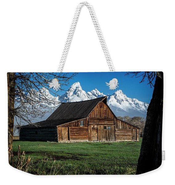 Moulton Barn And Tetons Weekender Tote Bag