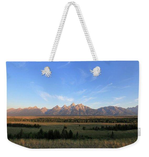 Teton Range After Sunrise Weekender Tote Bag