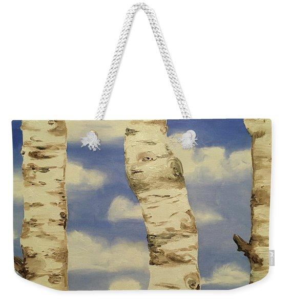 Teton View Thru Aspens Weekender Tote Bag