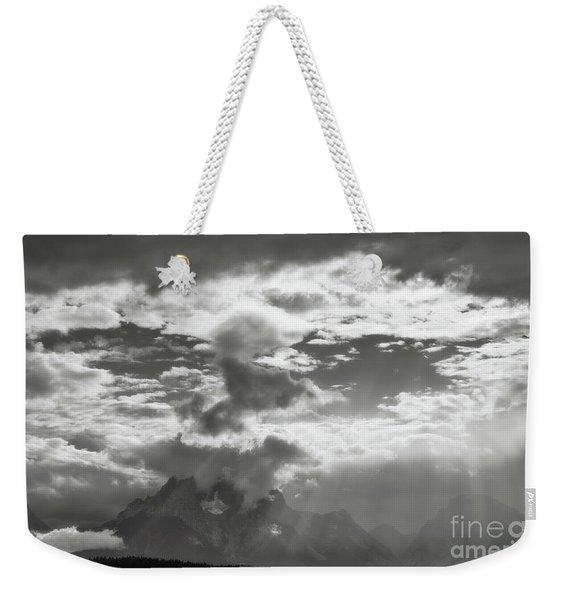 Tetons And Storm Clouds Weekender Tote Bag