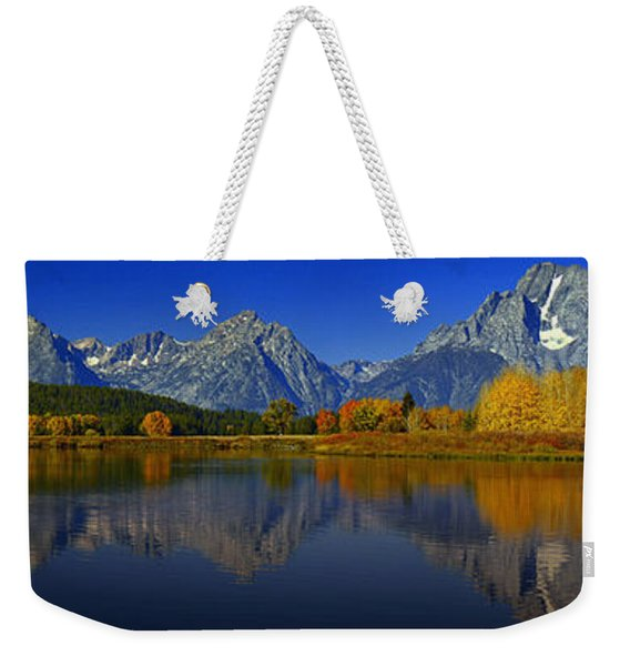 Tetons From Oxbow Bend Weekender Tote Bag