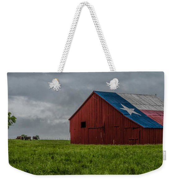Texas Barn Panorama Weekender Tote Bag