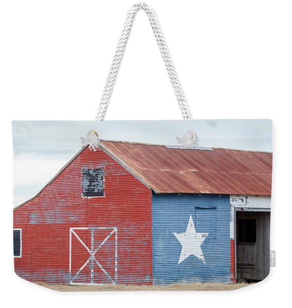 Texas Barn With Goats And Ram On The Side Weekender Tote Bag