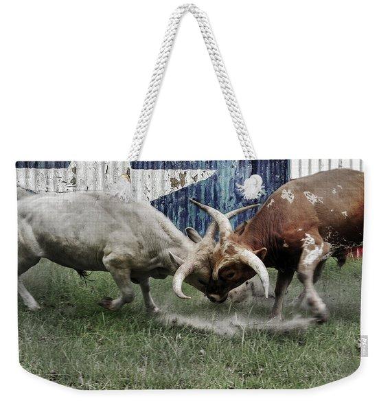 Texas Bull Fight  Weekender Tote Bag