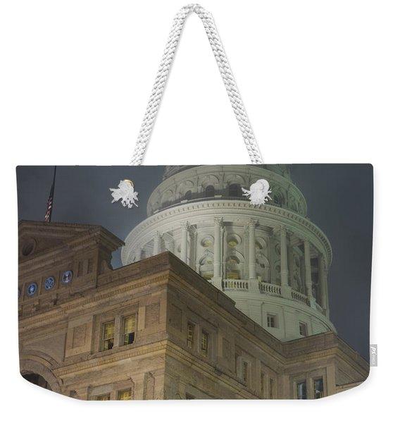 Texas Capitol In Fog Weekender Tote Bag