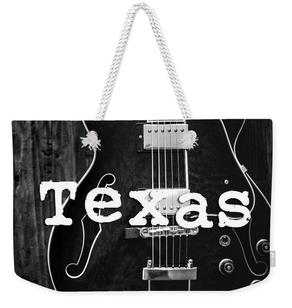 Texas Guitar Weekender Tote Bag