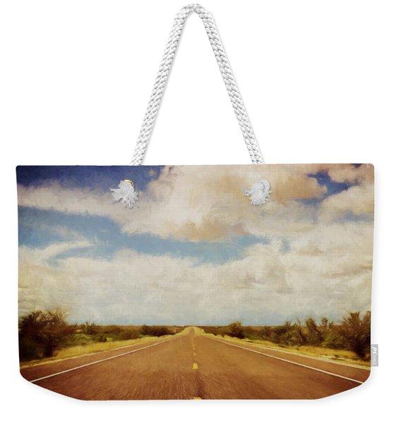 Texas Highway Weekender Tote Bag