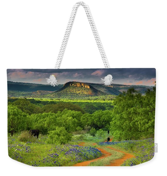 Texas Hill Country Ranch Road Weekender Tote Bag