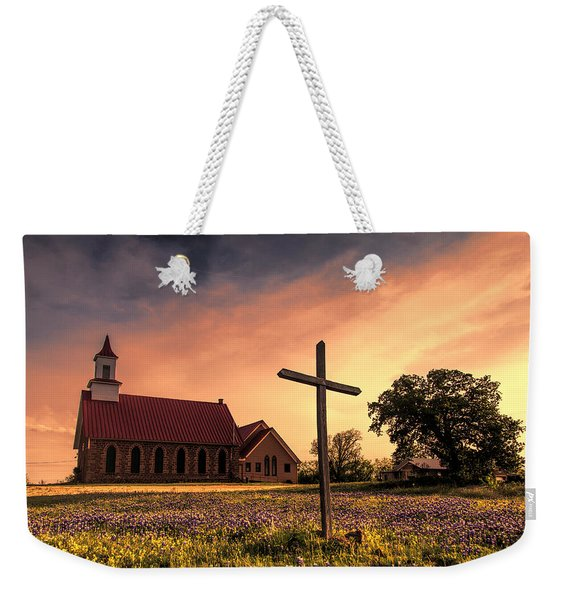 Texas Hill Country Sunset Weekender Tote Bag