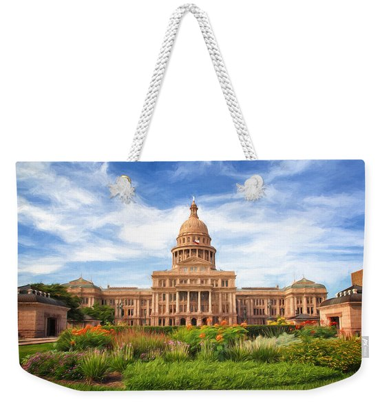 Texas Impressions Texas State Capitol II Weekender Tote Bag
