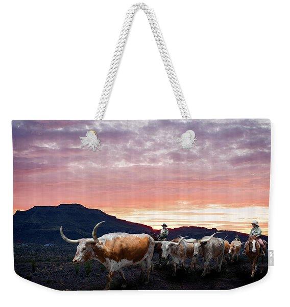 Texas Longhorn Orange Morning Weekender Tote Bag