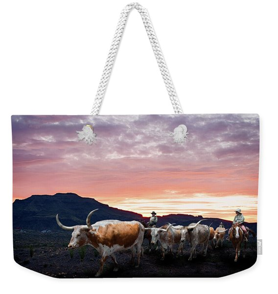Texas Longhorn Orange Morning Weekender Tote Bag