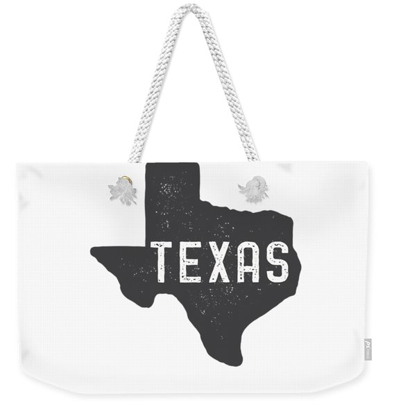 Texas Map Tee Weekender Tote Bag