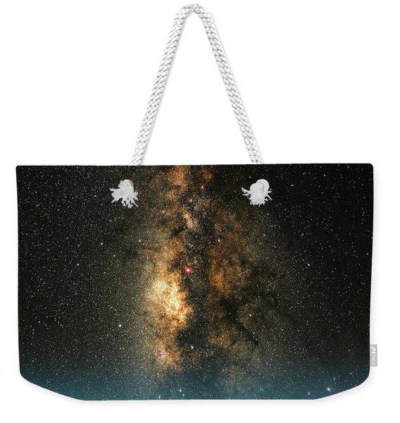 Texas Milky Way Weekender Tote Bag