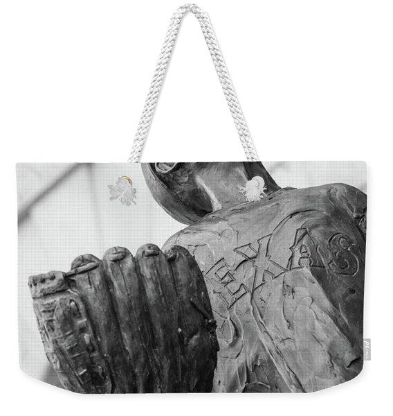 Texas Rangers Little Boy Statue Weekender Tote Bag