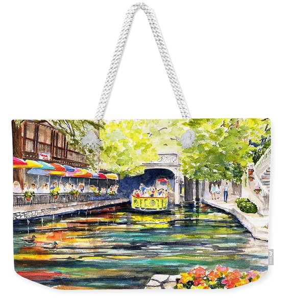 Texas San Antonio River Walk Weekender Tote Bag