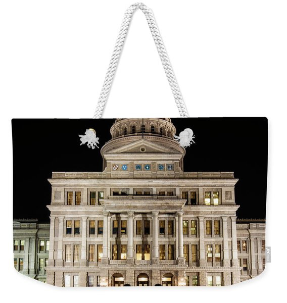 Texas State Capitol Night Reflection Weekender Tote Bag