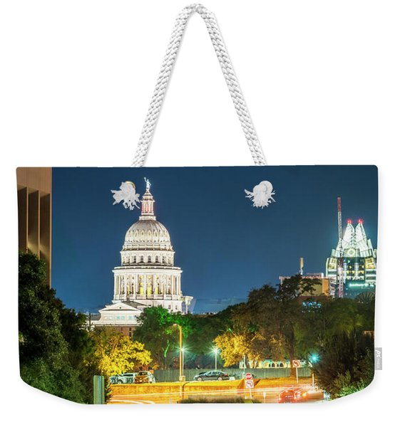 Texas State Capitol University Of Texas Weekender Tote Bag
