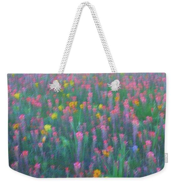 Texas Wildflowers Abstract Weekender Tote Bag