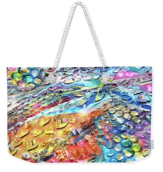 Textured Color Play 2 Weekender Tote Bag