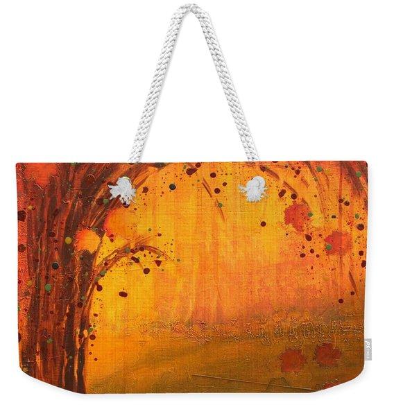 Textured Fall - Tree Series Weekender Tote Bag