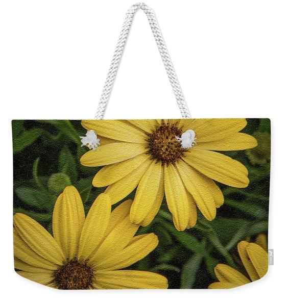 Textured Floral Weekender Tote Bag